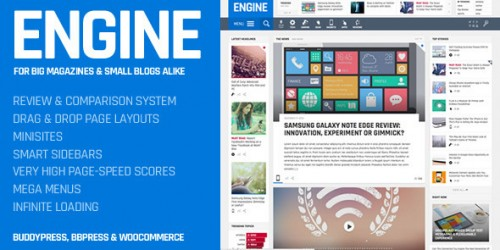 Engine WordPress theme review