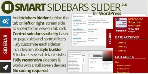 WordPress sliding sidebar