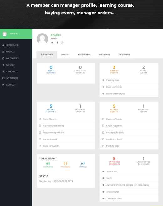 xscholar dashboard
