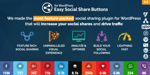 Review easy social share buttons
